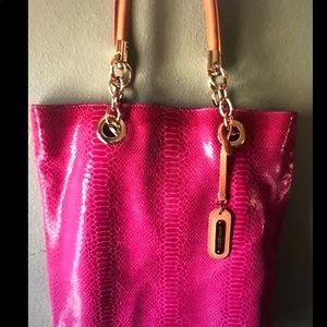Pink snakeskin purse